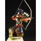 figurine samourai peinte gilles carda kyudo chinois 185c