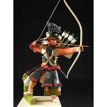 Figurine Samourai peinte Gilles Carda Kyudo Chinois -185C