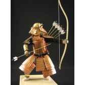 figurine samourai peinte gilles carda kyudo or 187c