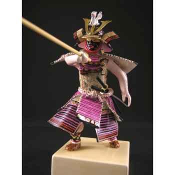 Figurine Samourai peinte Gilles Carda Jo Renard Blanc -188C