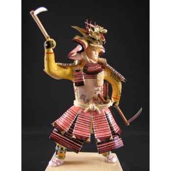 Figurine Samourai peinte Gilles Carda Deux Kusarigama -190C