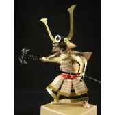 figurine samourai peinte gilles carda sodegarami blanche 191c