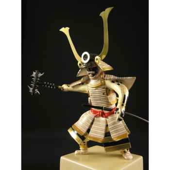 Figurine Samourai peinte Gilles Carda Sodegarami blanche -191C