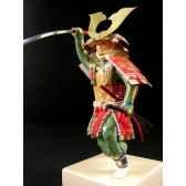 figurine samourai peinte gilles carda katana relief 193c