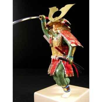 Figurine Samourai peinte Gilles Carda Katana Relief -193C