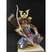 figurine samourai peinte gilles carda kyudo asarum 194c
