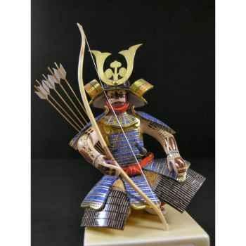 Figurine Samourai peinte Gilles Carda Kyudo Asarum -194C