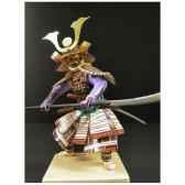 figurine samourai peinte gilles carda halebarde a la grue 196c