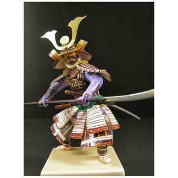 Figurine Samourai peinte Gilles Carda Halebarde à la Grue -196C