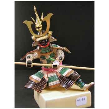 Figurine Samourai peinte Gilles Carda Bo à la Carpe -197C