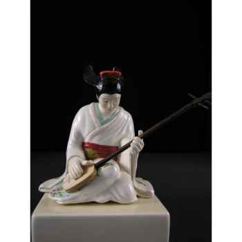 Figurine Samourai peinte Gilles Carda Kamisen -18C