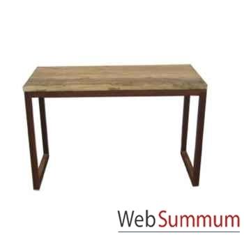Console 2 tiroirs fer et vieil orme brut style Chine -C0970
