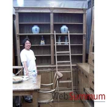 Bibliothèque 4 portes style Chine -C2317NAT