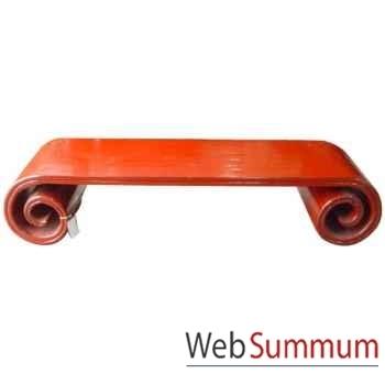 Table rouleau petit modèle rouge style Chine -CHN086PMR