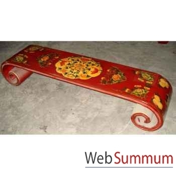 Table basse rouleau grand modèle tibet style Chine -C0621