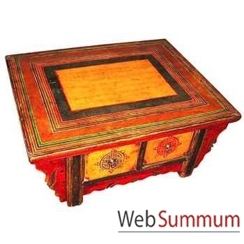 Table basse 2 tiroirs tibet style Chine -C0652