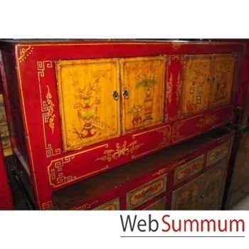 Buffet mongol 4 portes style Chine -C3011