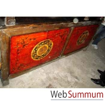 Buffet mongol 4 portes style Chine -C3021