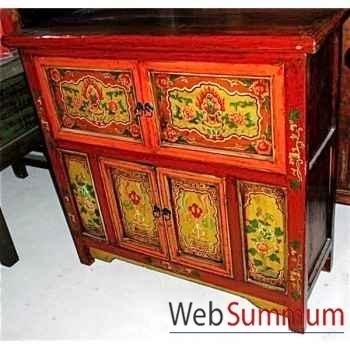 Buffet 4 portes niche tibetain style Chine -C3036