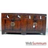 buffet 4 portes et 4 tiroirs style chine chn036