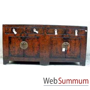 Buffet 4 portes et 4 tiroirs style Chine -CHN036