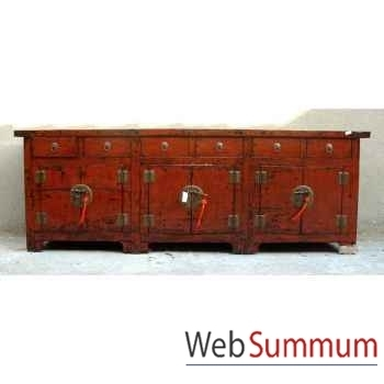 Buffet 6 portes et 6 tiroirs style Chine -CHN045