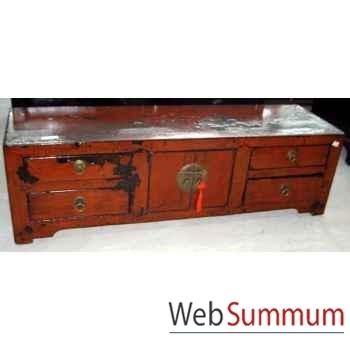 Buffet bas 2 portes et 4 tiroirs style Chine -CHN055