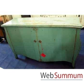 Buffet francais 2 portes peuplier bleu turquoise style Chine -C2310BL