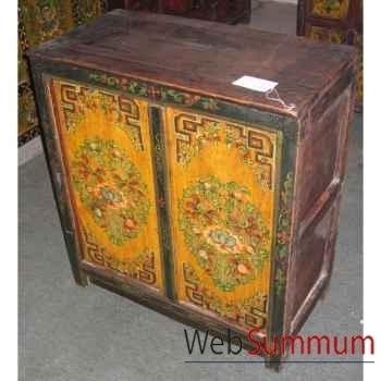 Mini buffet 2 portes tibet style Chine -C0326