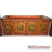 buffet bas 4 portes tibetain style chine c0377
