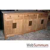 buffet ren 6 portes et 3 tiroirs style chine c0581nat