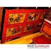 buffet 6 tiroirs fleurs tibetain style chine c0616