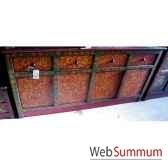 buffet tibetain 4 portes et 4 tiroirs style chine c0641