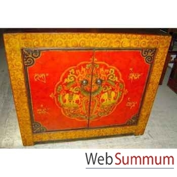 Buffet tibetain 2 portes style Chine -C0643