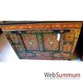 buffet tibetain 2 portes et 3 tiroirs style chine c0644