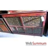 buffet tibetain 6 portes style chine c0645