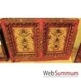 buffet 2 portes et cadre sculpte style chine c0883