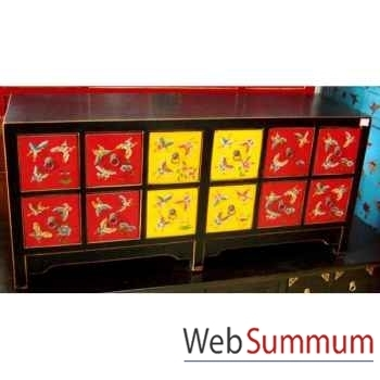 Buffet bas polychrome style Chine -C0937