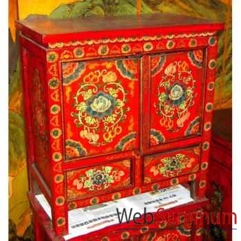 Buffet 2 portes et 2 tiroirs tibet style Chine -C0938