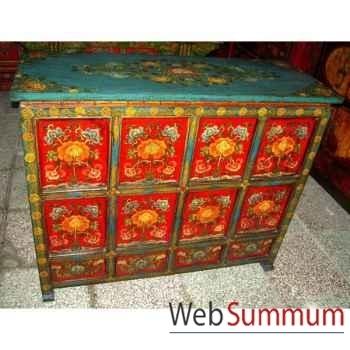 Buffet 8 portes et 4 tiroirs tibet style Chine -C0939