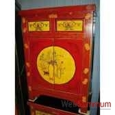 buffet 2 portes et 2 tiroirs dessin gansu style chine c0947