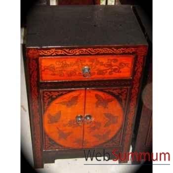 Armoirette 2 portes et 1 tiroir papillon style Chine -C3023