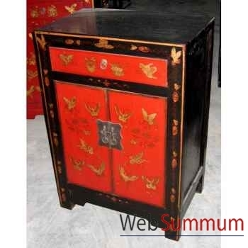 Armoirette peinte 2 portes style Chine -CHN014