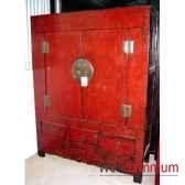armoire grand modele 4 portes ou 2 portes et 2 tiroirs style chine chn051