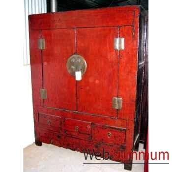 Armoire grand modèle 4 portes ou 2 portes et 2 tiroirs style Chine -CHN051