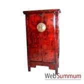 armoire 2 portes etroite style chine chn058