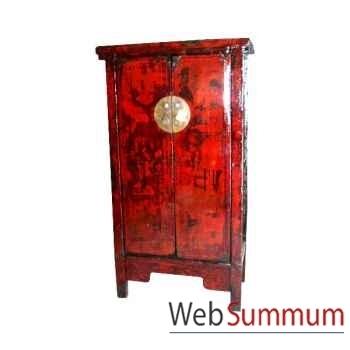 Armoire 2 portes étroite style Chine -CHN058