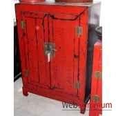 armoirette 2 portes sur socle style chine chn222r
