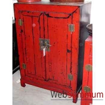 Armoirette 2 portes sur socle style Chine -CHN222R