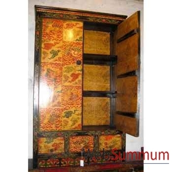 Armoire 2 portes et 2 tiroirs style Chine -C0330